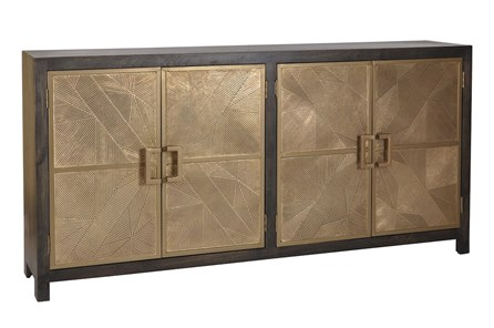 Black + Brass 4 Door Sideboard