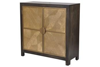 """Black + Brass 2 Door 40"""" Sideboard"""