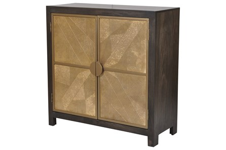 Black + Brass 2 Door Sideboard