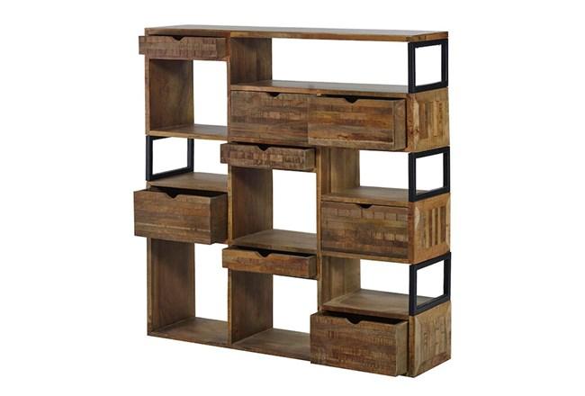 "Rustic 8 Hole 57"" Bookcase  - 360"