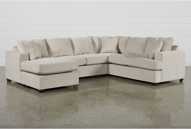 Kerri Sand 2 Piece Sectional With Left Arm Facing Sofa Chaise - 360