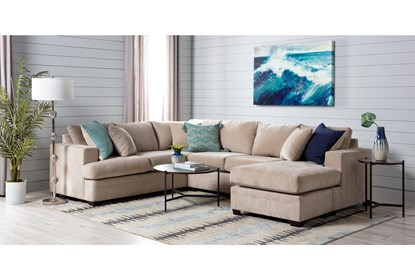 Swell Kerri Sand 2 Piece Sectional With Right Arm Facing Sofa Chaise Spiritservingveterans Wood Chair Design Ideas Spiritservingveteransorg