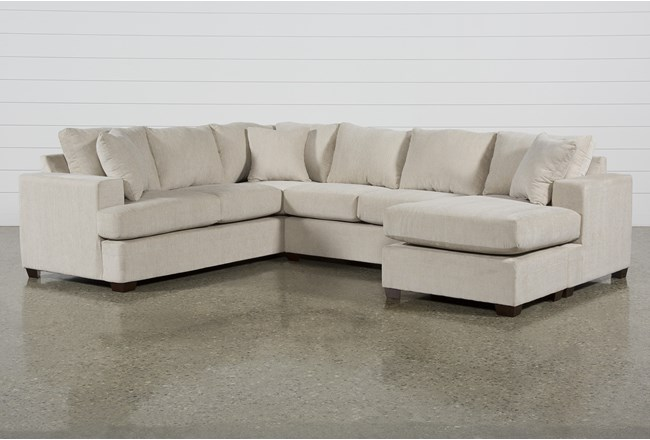 Kerri Sand 2 Piece Sectional With Right Arm Facing Sofa Chaise - 360