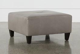 Perch Leather Medium Square Ottoman