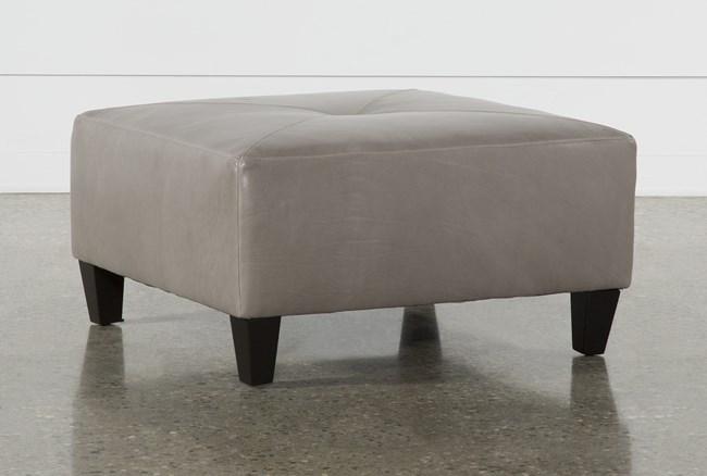 Perch Leather Medium Square Ottoman - 360