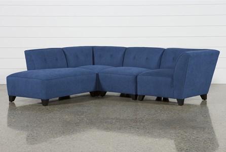 Benton II 4 Piece Sectional W/ Laf Bumper Chaise