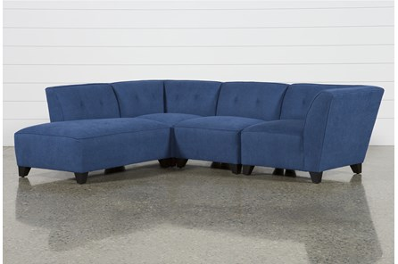 Benton II 4 Piece Sectional with Left Arm Facing Bumper Chaise