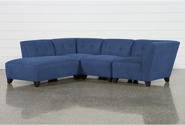 Benton II 4 Piece Sectional With Left Facing Bumper Chaise - 360