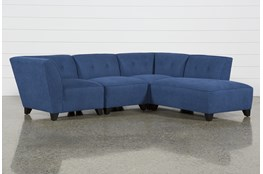 Benton II 4 Piece Sectional With Right Facing Bumper Chaise