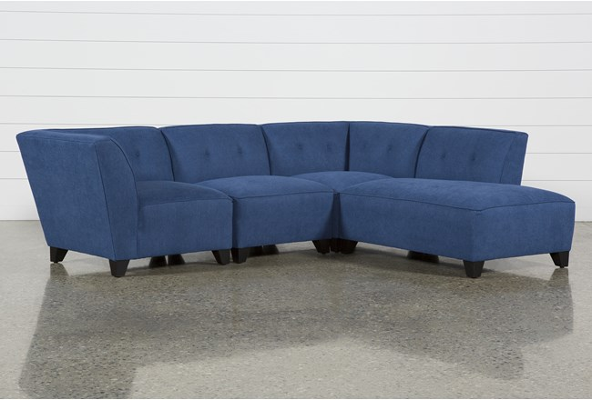 Benton II 4 Piece Sectional W/ Raf Bumper Chaise - 360