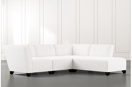 Benton II White 4 Piece Sectional with Right Arm Facing Bumper Chaise