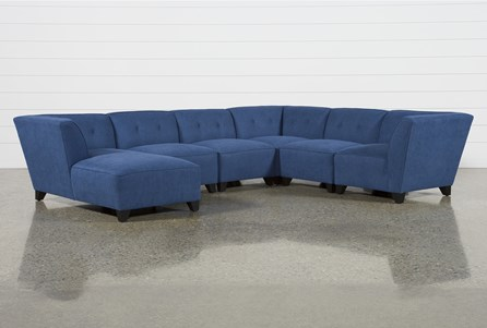 Benton II 6 Piece Sectional W/ Laf Chaise