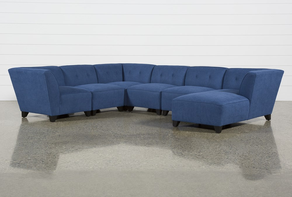 Benton II 6 Piece Sectional With Right Arm Facing Chaise