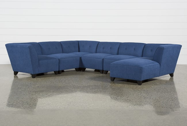 Benton II 6 Piece Sectional W/ Raf Chaise - 360