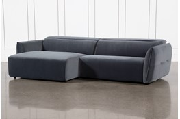 Layla Midnight 2 Piece Power Reclining Sectional With Left Arm Facing Chaise