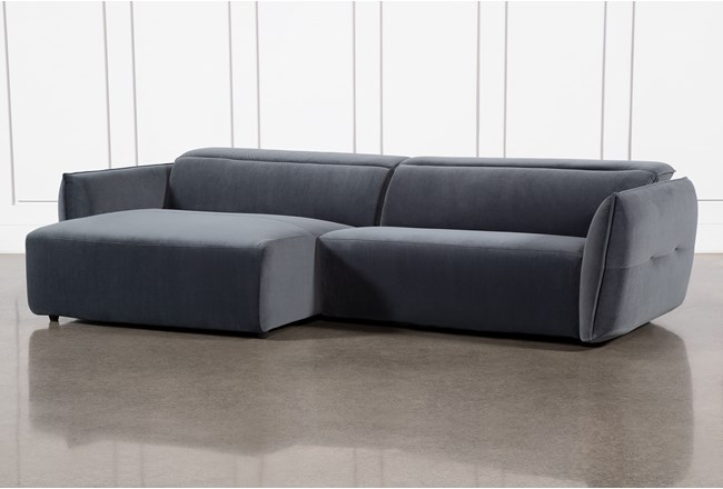 Layla Midnight 2 Piece Power Reclining Sectional With Left Arm Facing Chaise - 360