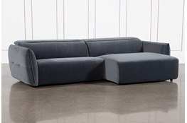 Layla Midnight 2 Piece Power Reclining Sectional With Right Arm Facing Chaise