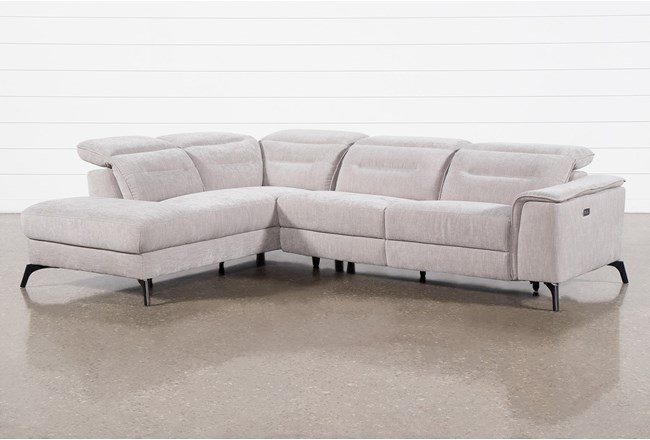 Lexi Platinum 2 Piece Power Reclining Sectional With Left Arm Facing Chaise and Usb - 360