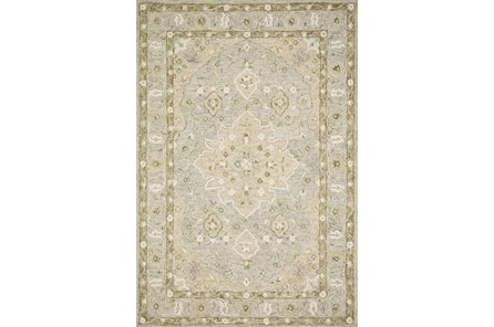 111X156 Rug-Magnolia Home Ryeland Grey/Sage By Joanna Gaines