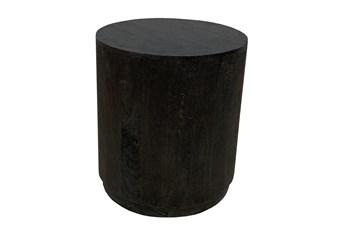 Black Drum Accent Table