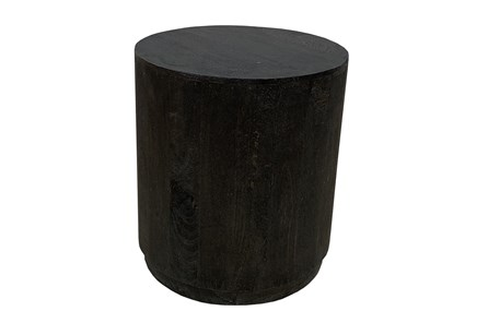 Black Drum Accent Table