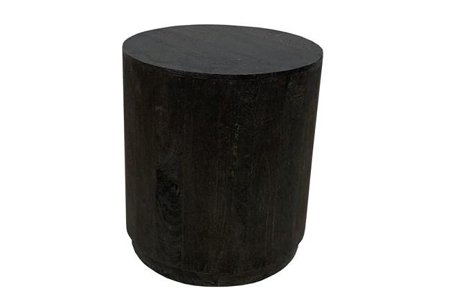 Black Drum Accent Table - 360