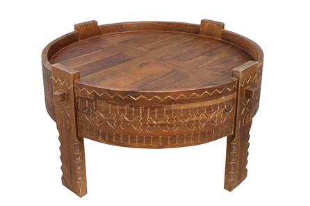 Otb Dark Brown Bajot Coffee Table