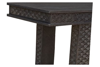 Amazing Black Hand Carved 42 Inch Console Table Machost Co Dining Chair Design Ideas Machostcouk