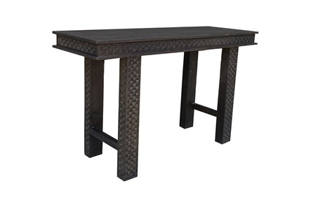 Black Hand Carved 42 Inch Console Table