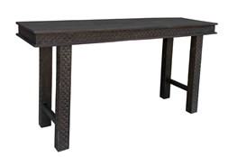 Black Hand Carved 61 Inch Console Table