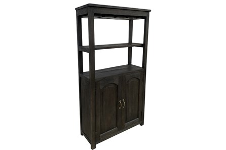 2 Door Dark Gray Bar Cabinet