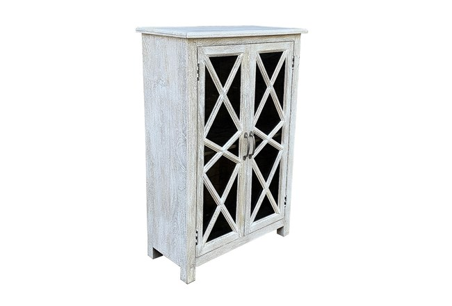 Antique White 2 Door Cabinet - 360