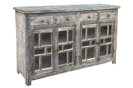 Antique Gray 4 Door 4 Drawer Sideboard