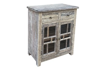 Antique Gray 2 Door 2 Drawer Sideboard