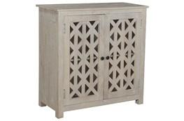 Antique White Piece Front 2 Door Cabinet