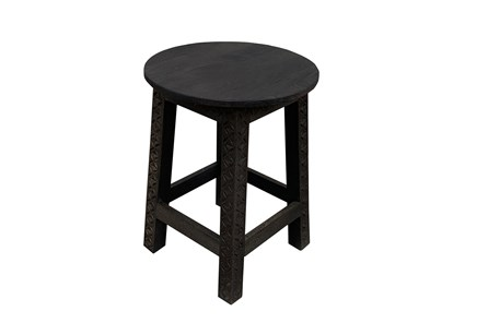 Otb Black Wooden Stool