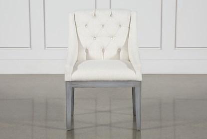 Alexa White Linen Dining Side Chair
