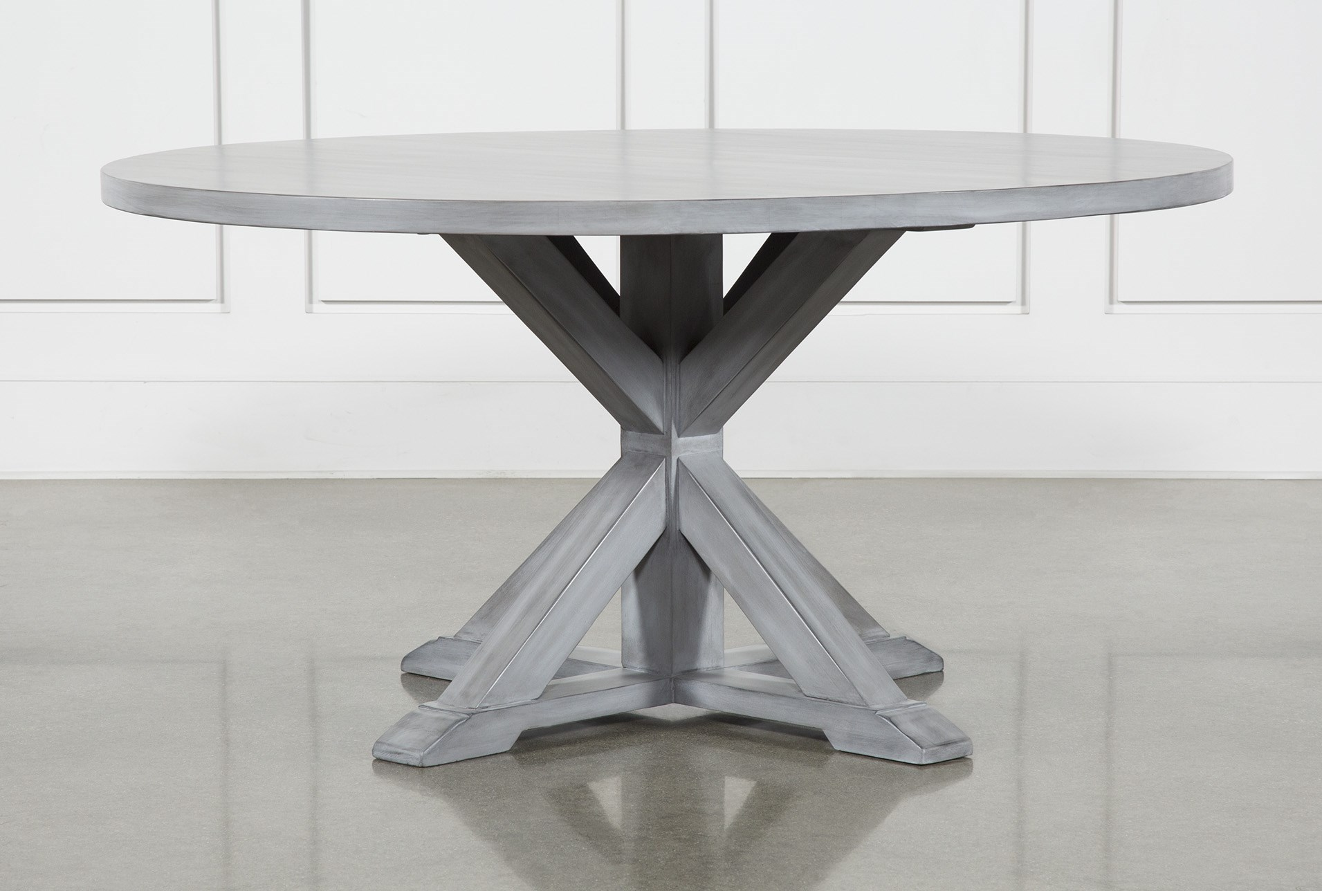 La Phillippe Cement 60 Inch Round Dining Table Living Spaces