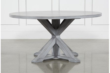 La Phillippe Cement 60 Inch Round Dining Table