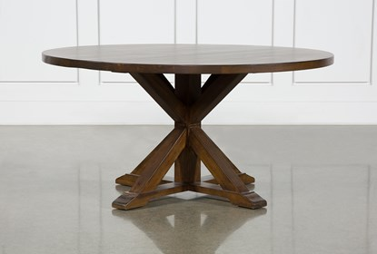 La Phillippe Cognac 60 Inch Round Dining Table