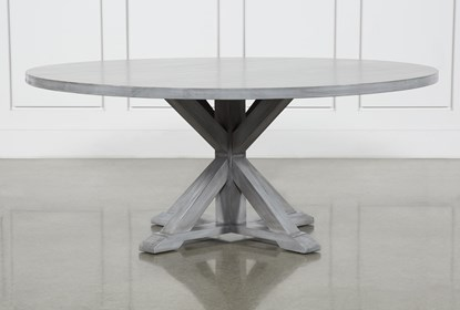 La Phillippe Cement 72 Inch Round Dining Table