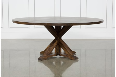 La Phillippe Cognac 72 Inch Round Dining Table