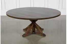 La Phillippe Cognac 72 Inch Round Dining Table