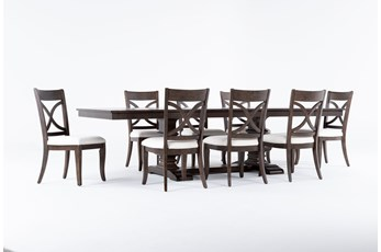 Sorensen 9 Piece Extension Pedestal Dining Set