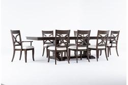 Sorensen 9 Piece Extension Pedestal Dining Set