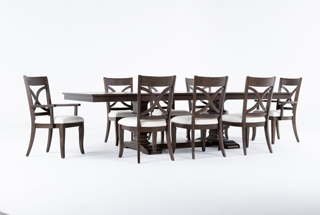 Sorensen 9 Piece Extension Pedestal Dining Set - 360