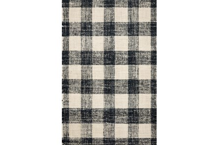 27X45 Rug-Magnolia Home Crew Black/Natural By Joanna Gaines