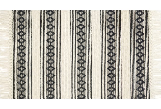 """5'x7'5"""" Rug-Magnolia Home Holloway Ivory/Black By Joanna Gaines - 360"""