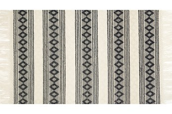 93X117 Rug-Magnolia Home Holloway Ivory/Black By Joanna Gaines