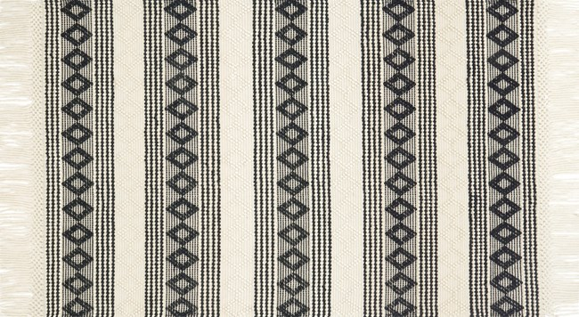 93X117 Rug-Magnolia Home Holloway Ivory/Black By Joanna Gaines - 360